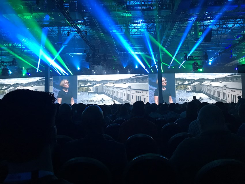 Autodesk's Amy Bunszel showcased Norconsult from the main stage at this year's Autodesk University.